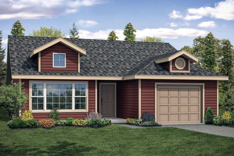 Ranch House Plan - Sweetbrier 13127 - Front Exterior