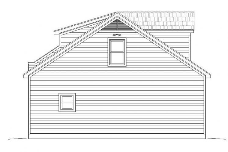 Country Garage Plan -  13140 - Left Exterior