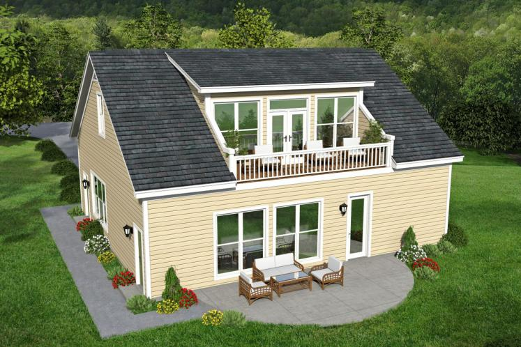 Traditional Garage Plan -  13140 - Rear Exterior