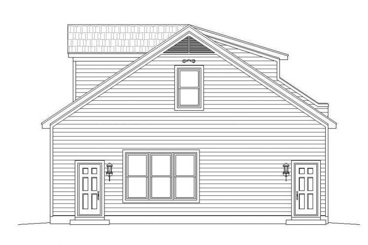 Traditional Garage Plan -  13140 - Right Exterior