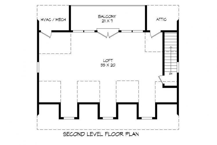Traditional Garage Plan -  13140 - 2nd Floor Plan