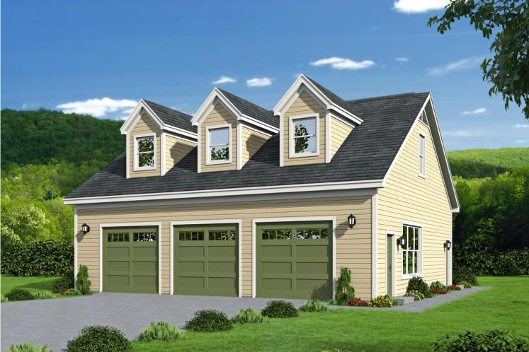Country Garage Plan -  13140 - Front Exterior