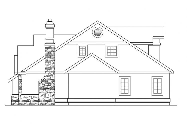 European House Plan - Lafayette 13508 - Right Exterior