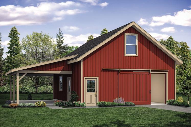 Country Garage Plan -  13539 - Front Exterior