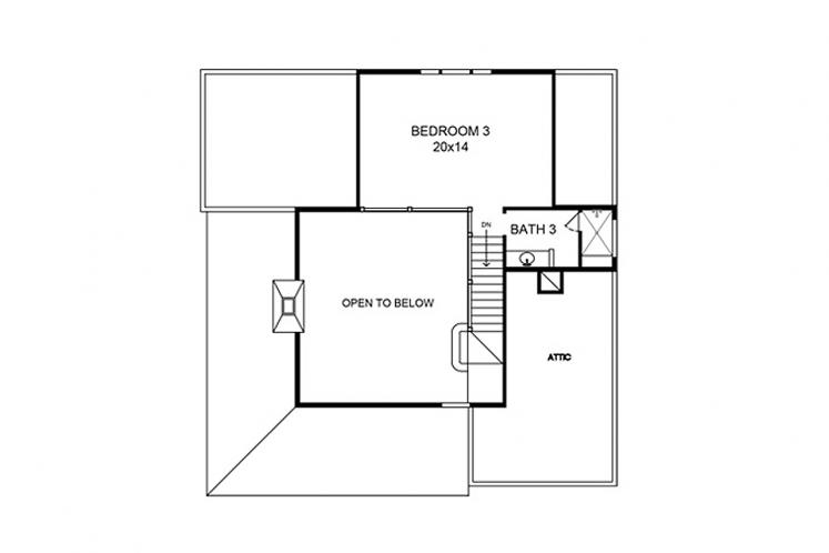 Farmhouse House Plan - Sebring 13547 - 2nd Floor Plan