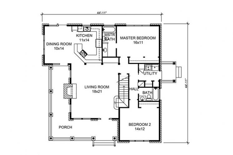 Country House Plan - Sebring 13547 - 1st Floor Plan