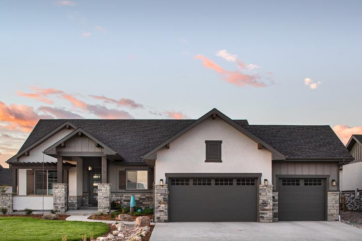 Ranch House Plan - Silverhawk 13594 - Front Exterior