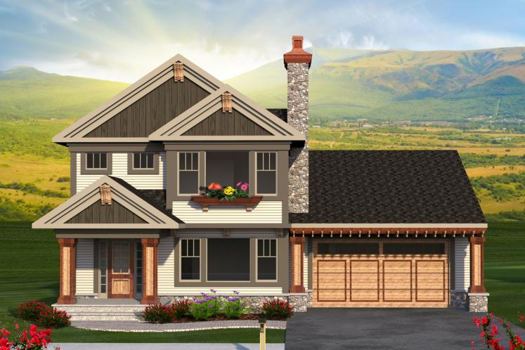 Traditional House Plan -  13661 - Front Exterior