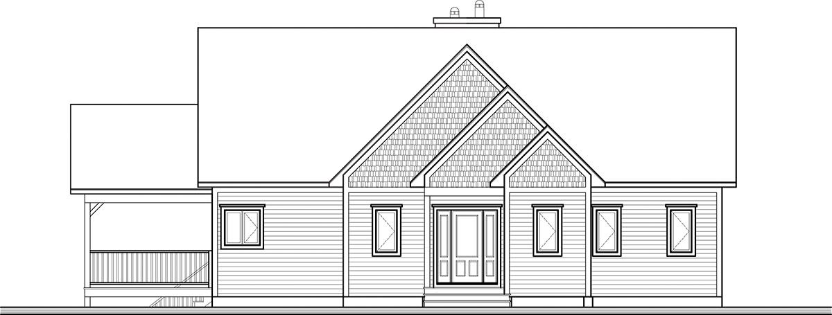 Lodge Style House Plan - The Lakeshore 13858 - Front Exterior