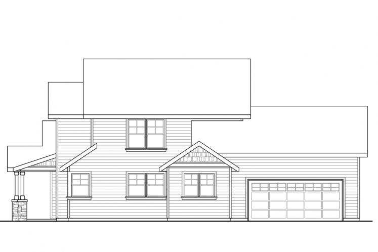 Country House Plan - Rivercrest 13914 - Right Exterior
