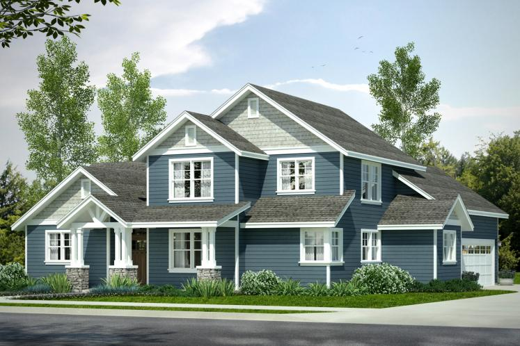 Country House Plan - Rivercrest 13914 - Front Exterior