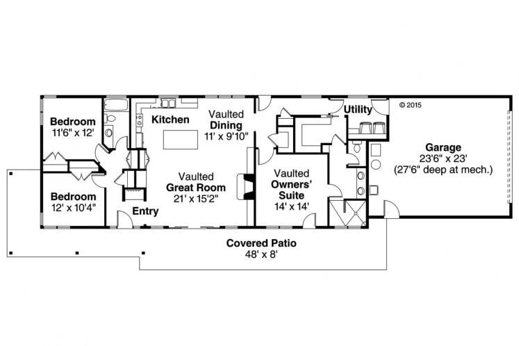 Modern House Plan - Covina 13922 - 1st Floor Plan