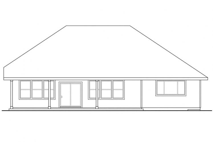 Bungalow House Plan - Greenleaf 14035 - Rear Exterior