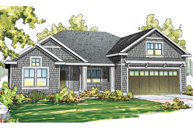 Craftsman House Plan - Greenleaf 14035