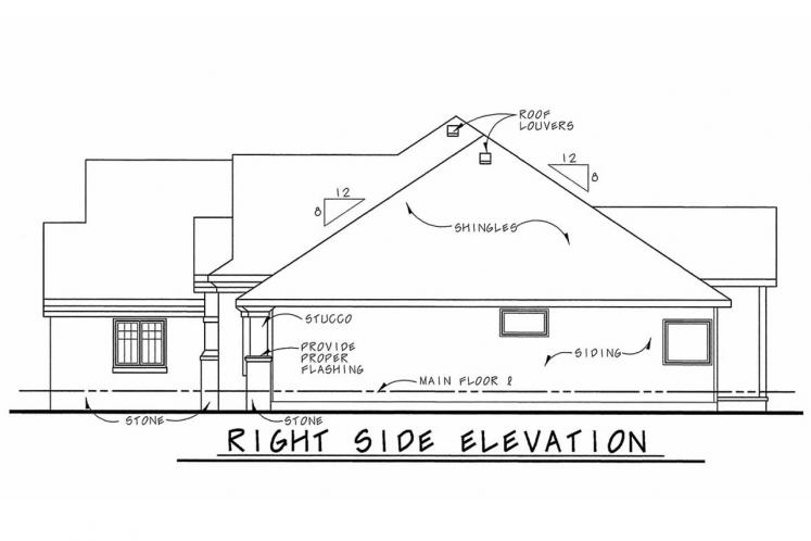Country House Plan - Zinnia 14063 - Right Exterior