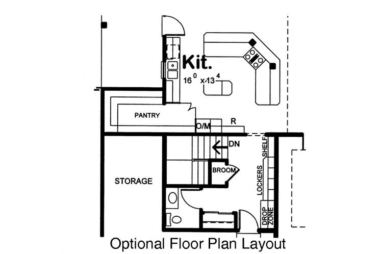 European House Plan - Zinnia 14063 - Optional Floor Plan