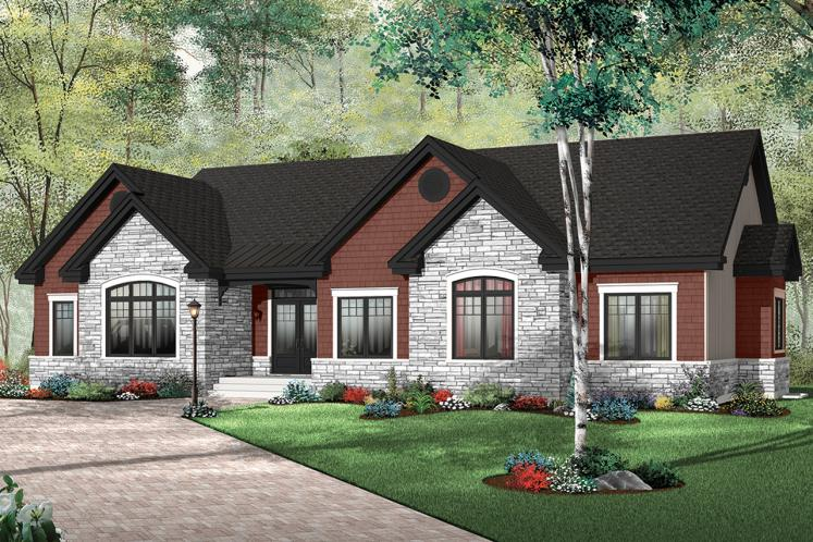 Country House Plan - Dambroise 14077 - Front Exterior