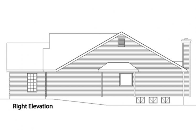 Traditional House Plan -  14119 - Right Exterior