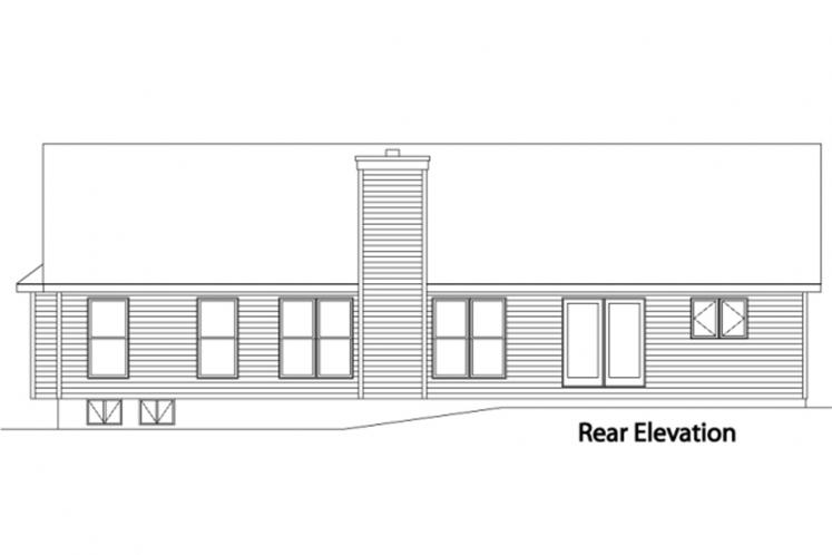 Traditional House Plan -  14119 - Rear Exterior