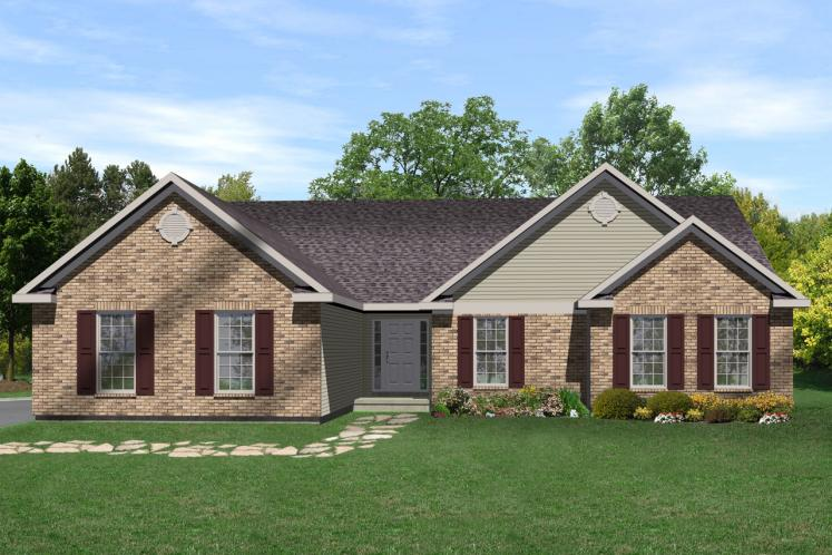 Ranch House Plan -  14119 - Front Exterior