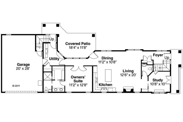 Contemporary House Plan - Rimrock 14135 - 1st Floor Plan