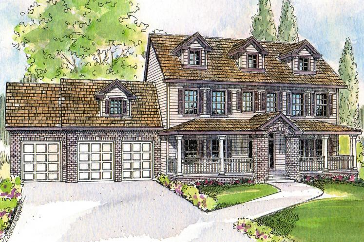 Colonial House Plan - Hanson 14154 - Front Exterior