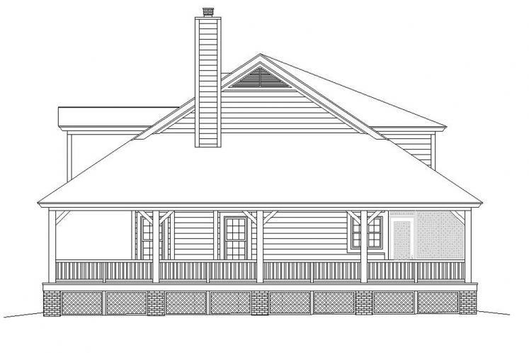 Farmhouse House Plan -  14175 - Right Exterior
