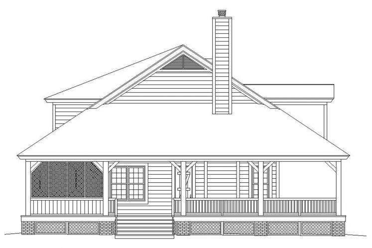 Country House Plan -  14175 - Left Exterior