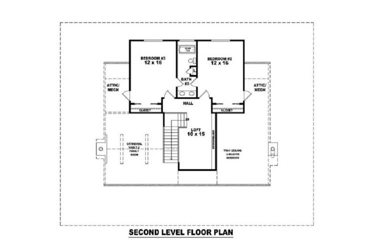 Country House Plan -  14175 - 2nd Floor Plan