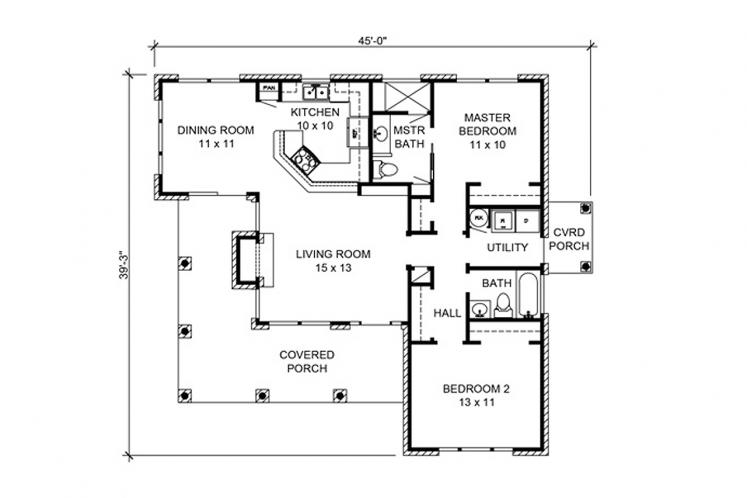 Country House Plan - San Angelo 14262 - 1st Floor Plan