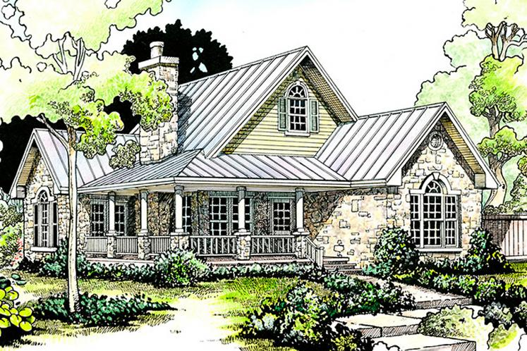 Cottage House Plan - San Angelo 14262 - Front Exterior