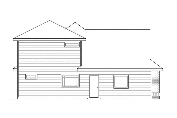 Traditional House Plan - Albany 14277 - Left Exterior