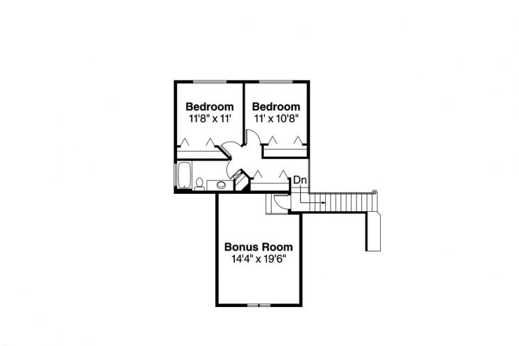 Traditional House Plan - Albany 14277 - 2nd Floor Plan