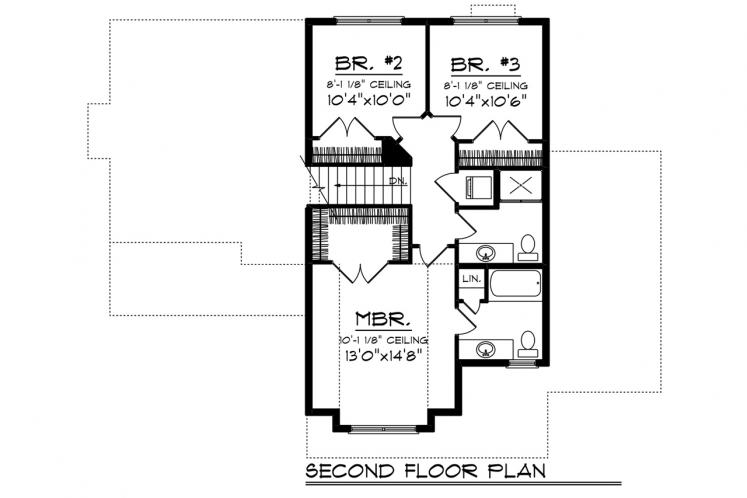 Traditional House Plan -  14295 - 2nd Floor Plan