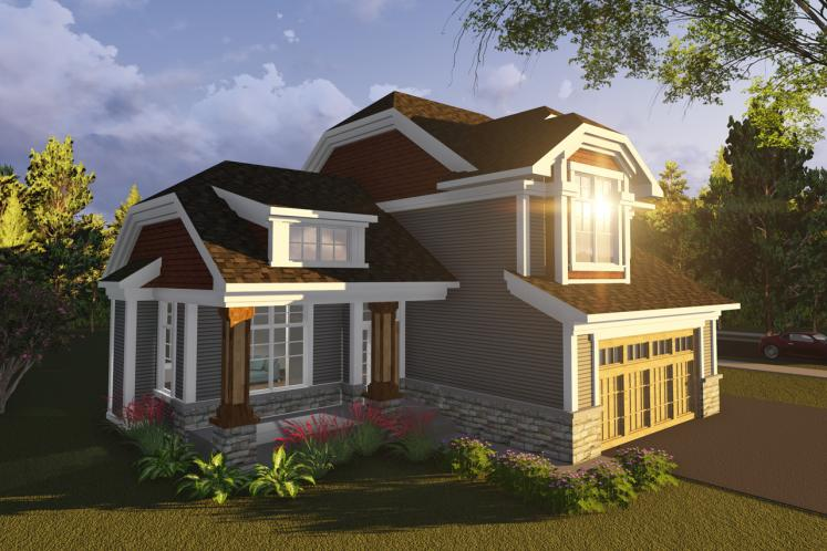 Craftsman House Plan -  14295 - Front Exterior