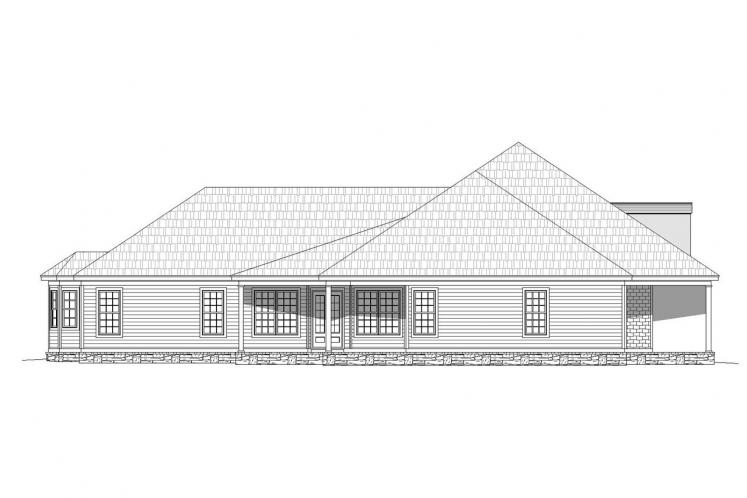 Country House Plan -  14328 - Left Exterior