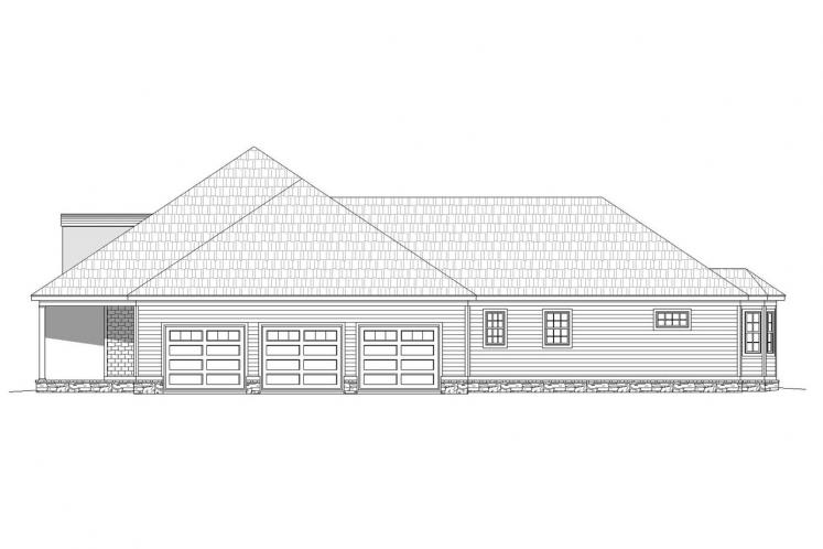 Ranch House Plan -  14328 - Right Exterior