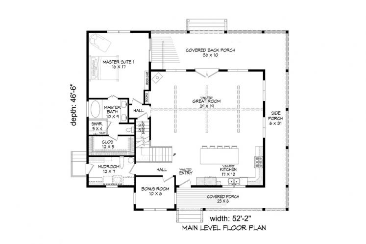 Craftsman House Plan - Flowery Branch 14349 - 1st Floor Plan