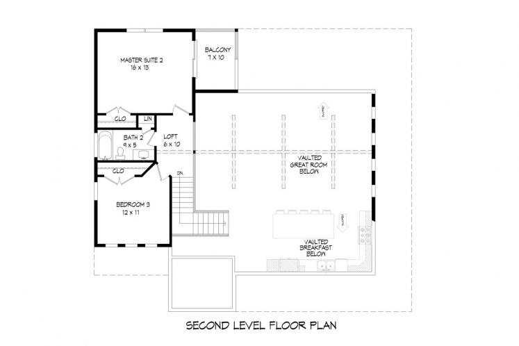 Country House Plan - Flowery Branch 14349 - 2nd Floor Plan