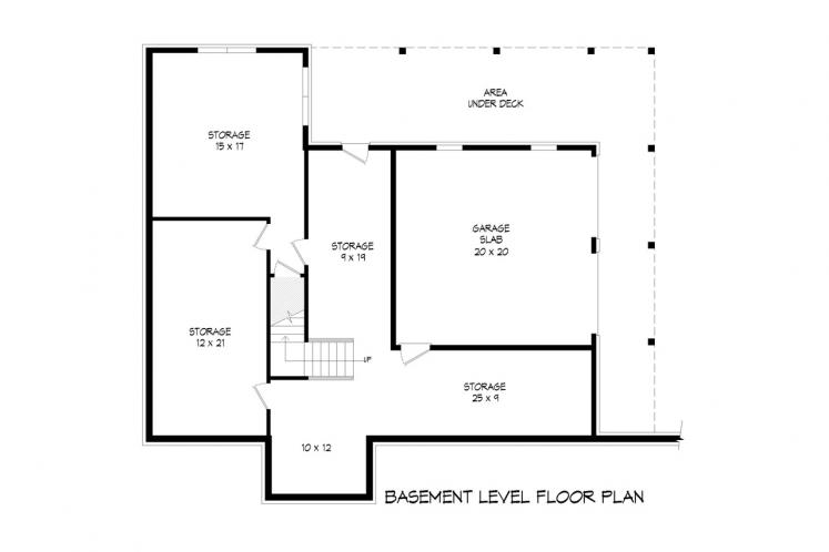 Craftsman House Plan - Flowery Branch 14349 - Basement Floor Plan
