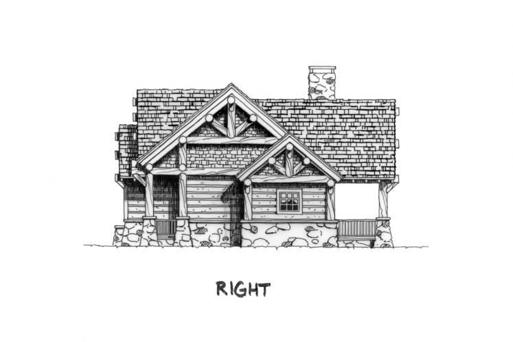 Lodge Style House Plan - Sheridan 14350 - Right Exterior