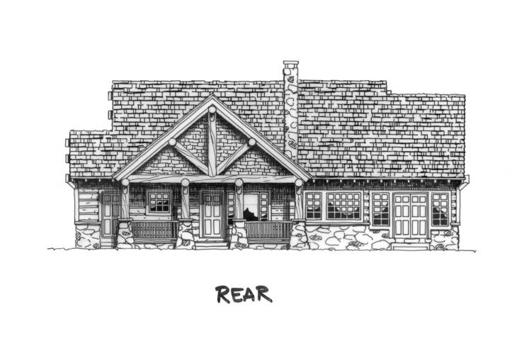 Country House Plan - Sheridan 14350 - Rear Exterior