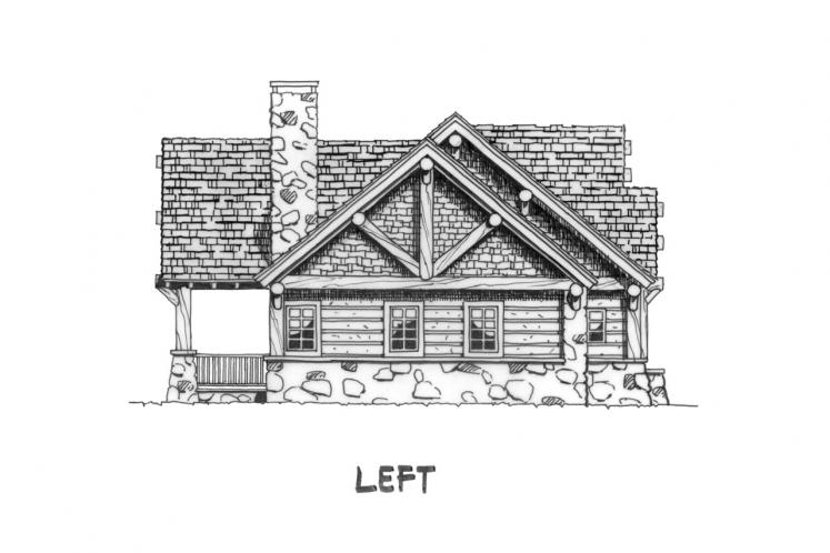 Craftsman House Plan - Sheridan 14350 - Left Exterior