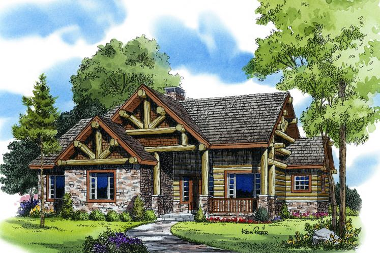 Lodge Style House Plan - Sheridan 14350 - Front Exterior