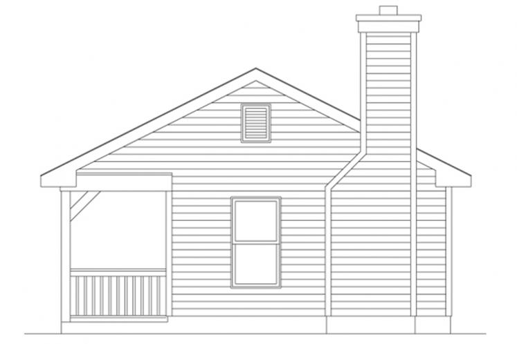 Cottage House Plan -  14356 - Right Exterior