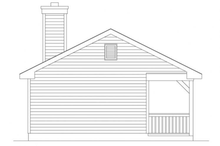 Ranch House Plan -  14356 - Left Exterior