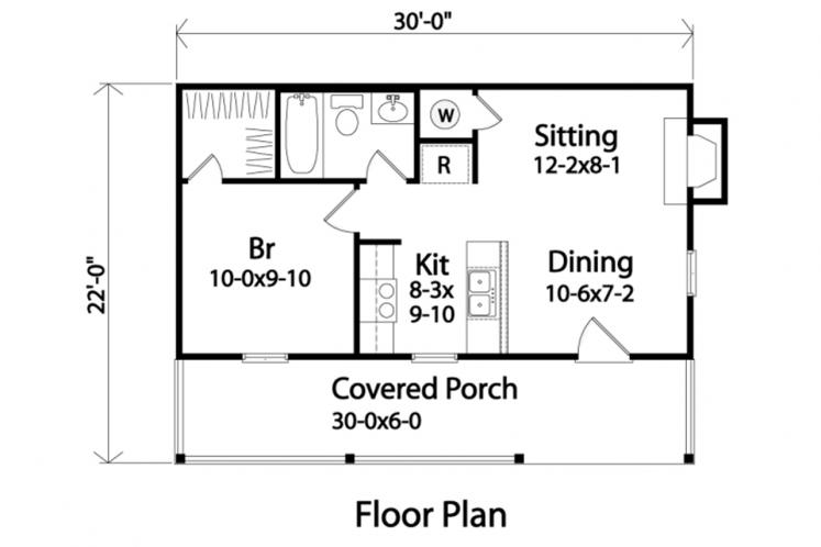 Country House Plan -  14356 - 1st Floor Plan