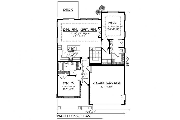 Traditional House Plan -  14382 - 1st Floor Plan