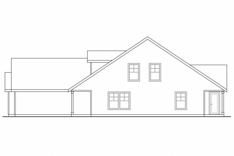 Craftsman Multi-family Plan - Braydon 14457 - Right Exterior