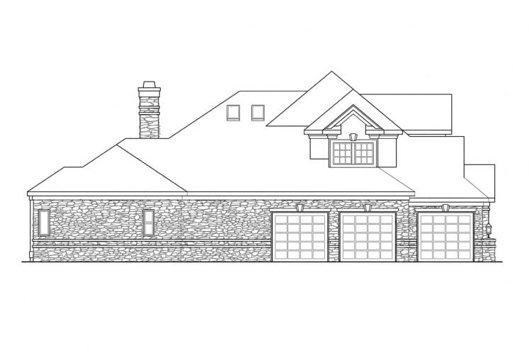 Traditional House Plan - Macleod 14467 - Left Exterior